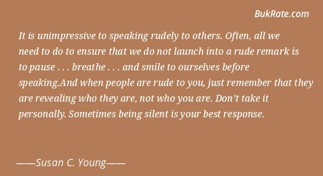 To others about quotes being rude 64 All