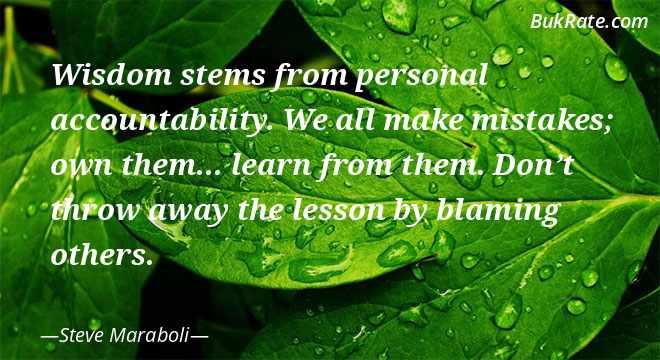 Steve Maraboli Quotes on Accountability - BukRate